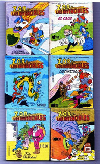 Zor Mini Revistas Comics 30.00 C/u