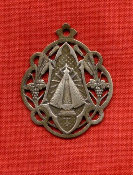 Antigua Medalla Ntra .sra.de Luján Art Nouveau Bronce Olivos