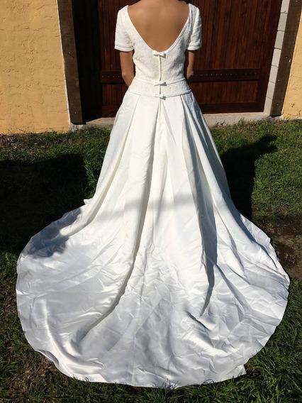 Vestido De Novia Largo Paloma Blanca Importado !