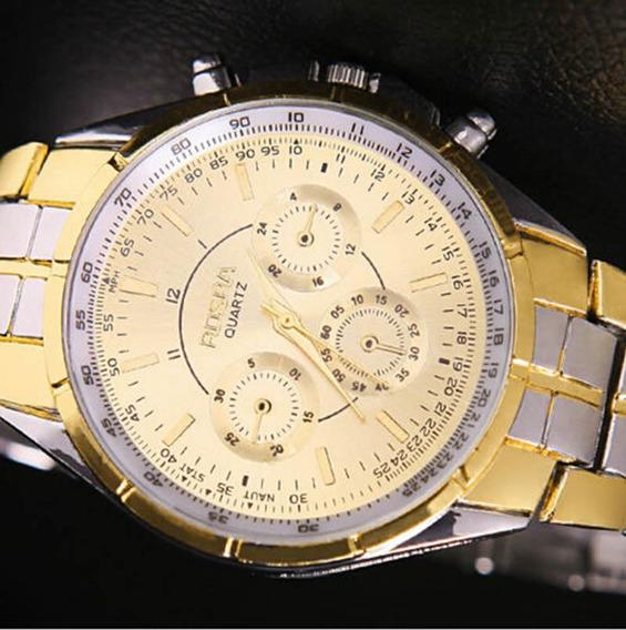 Relógio Rosra Estilo Social Clássico Quartzo Aço Inox
