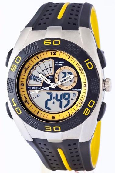 Relógio Masculino Anadigi Backer 1803391m - Amarelo Fundo Am