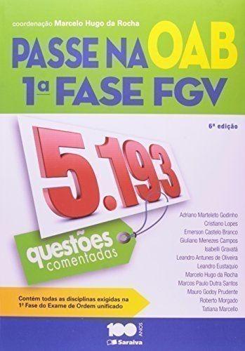 Livro Passe Na Oab 1ª Fase Fgv Marcelo Hugo Da Rocha