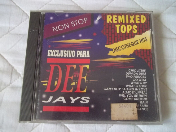 Cd Compilados Remixed Tops Djs Exclusivo Para Dee Jays