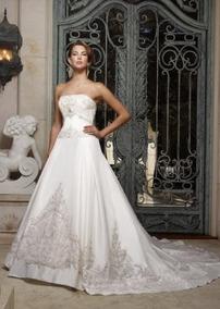 Vestido De Noiva - 36 - Princesa - Pronta Entrega - Vn00036