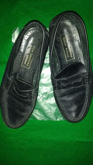 Zapatos De Hombre De Cuero Elio Iantorno Impecables
