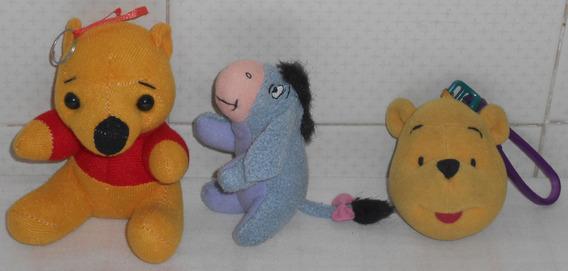 Ursinho Pooh De Pelúcia Lote C/3 Diferentes Burrinho Ió