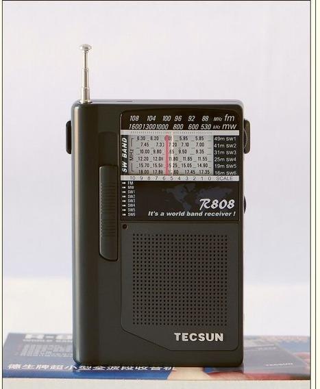 Rádio Tecsun R-808 Banda Larga Ultracompacto