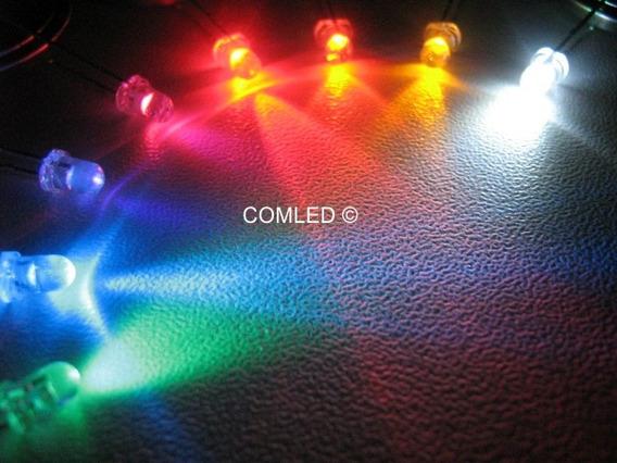 10x Mini Led 3mm Alto Brilho Neon Branco Color Luzinha Nicho