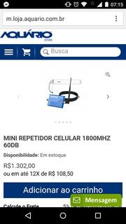 Repetidor Celular Aquario 1800mhz Novo Na Embalagem.
