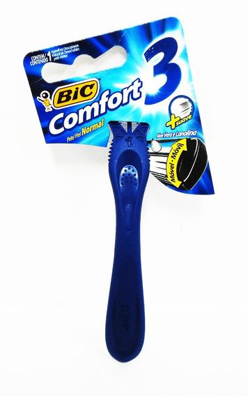 Barbeador Bic Comfort 3 Lâminas - Cartela C/12 Unidades