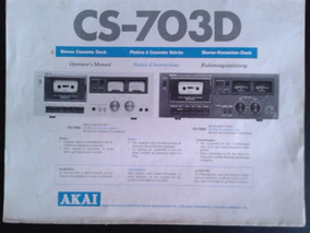 Manual Deck Akai Cs-703d .