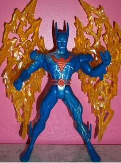 Batman Fuego Coleccion Dc Comics Superheroe Figura Muñeco