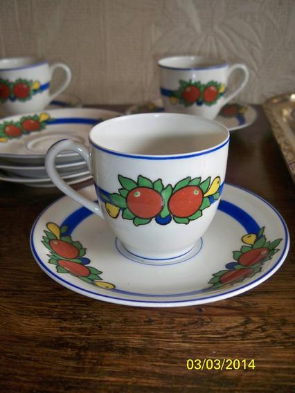 Porcelana Limoges Cafe P/ 10 Personas En Juego Taza Y Plato