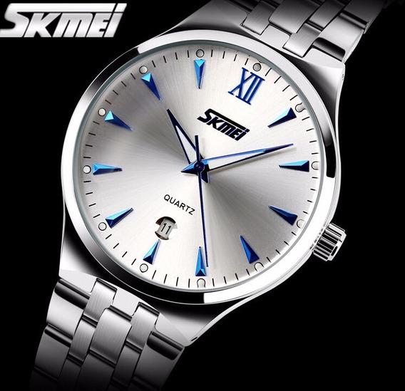 Relógio Masculino De Luxo, Mergulho 30m Skmei Digita Men Aço