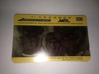 Tarjeta Telefónica Magnética Antel $500