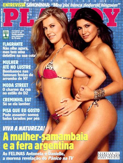 Playboy As Felinas - Antonela E Samambaia *frete Grátis*