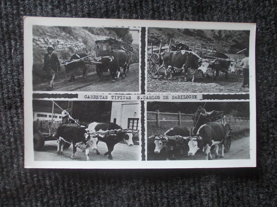 1073-foto Antigua Bariloche, Carretas Tipicas. Rio Negro