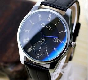 New Classic Couro Moda Quartz 2016 Relógio De Aço Inoxidável