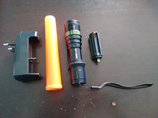Lanterna Tática Power Style Led Cree Q5 Recarregável