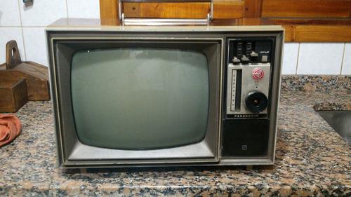 Antiguo Televisor Blanco Y Negro Panasonic Japon 12 Pulgadas