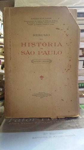 Livro Resumo Da História De São Paulo Alfredo Ellis Junior