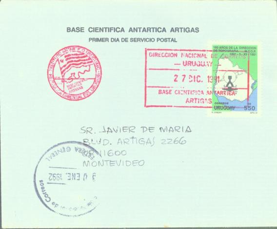 C@- Antartida - Uruguay - Sobre - Base Artigas 1991