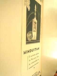 Perfume Hindustan Myrurgia - Antigua Publicidad 1930s