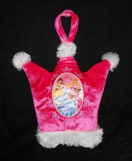 Disney Almohada De Peluche Rosa Princesas Corona Para Cuna