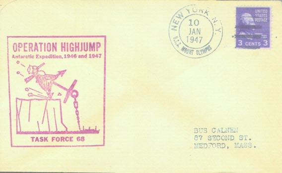 C@- Antartida - Usa - Sobre - Operacion Highjump 1947 -
