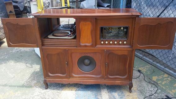 Movel Rádio E Vitrola Rotex