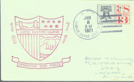 C@- Antartida - Usa - Sobre - Operación Deep Freeze 1971 -