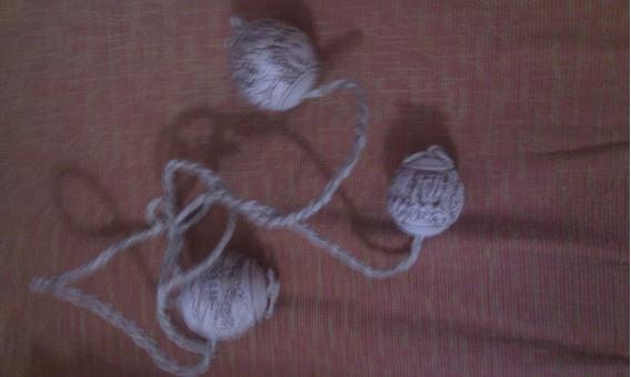 Boleadoras Cuero X 3 Packs Crudo Piedras Únicas