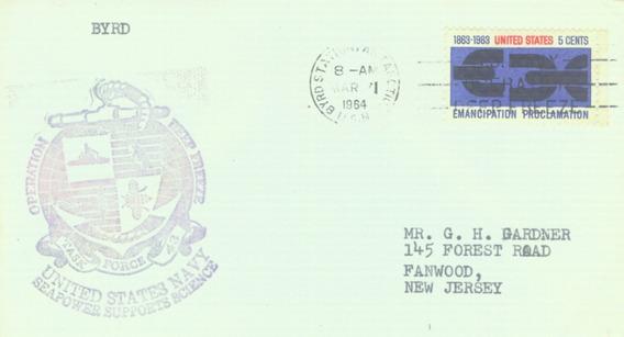 C@- Antartida - Usa - Sobre - Operación Deep Freeze 1964 -