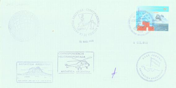 C@- Antartida Argentina - Base Jubany - Multiples Matasellos