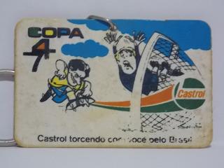 Antigo Chaveiro Castrol Copa De 74