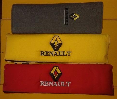 Bandanas Protector Cinturon Renault Amarillo Gris Par
