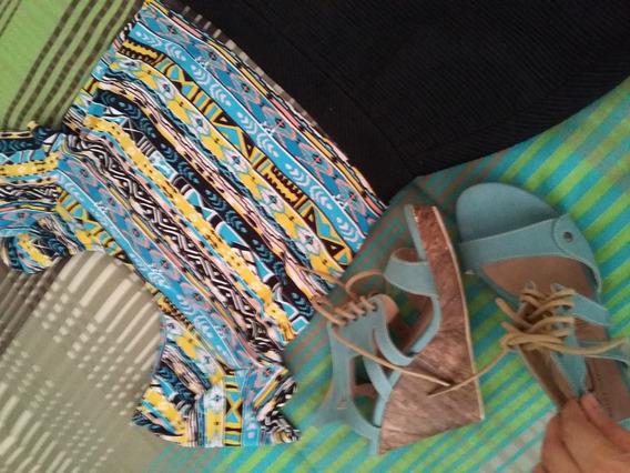 Zapatos Sandalias Color Azul, Dorothy Gaynor