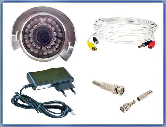 Câmera Infra 1600 Ccd 36 Leds +fonte+cabo Montado Só Ligar..