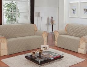 Protetor Para Sofa Cor Bege Na Embalagem Sem Uso
