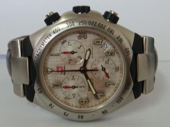 Relógio Universal Ayrton Senna Gmt Crono Carbon 200mts 42mm
