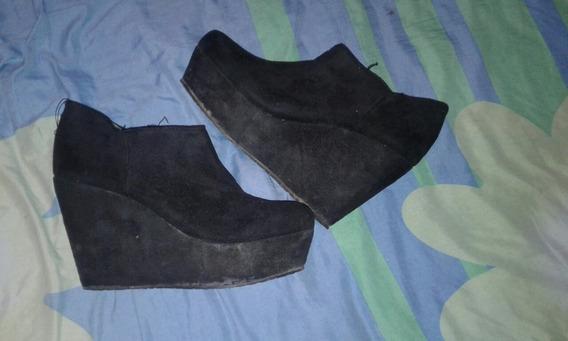 Zapatos Negros Gamuzados Nro 38 Excelente Estado