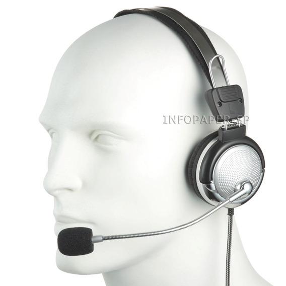 10 Fones De Ouvido 301 Stereo Com Microfone Lan House Pc