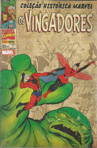 Colecao Historica Marvel Vingadores 7 Bonellihq Cx234 D18