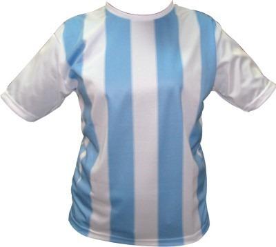 Camiseta Argentina Infantil Talles 10 Al 16