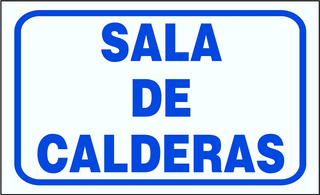 Cartel Edificios Sala De Caldera Maquinas Medidores 22x28 Cm