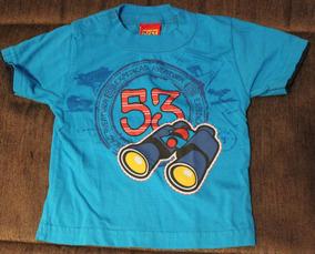 Camiseta Manga Curta Azul - Kyly - Tam: M - C.238