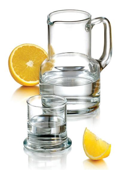 Pasabahce Oasis 1 L Jarra con vaso de vidrio de mesilla de noche la noche Set 2 PC