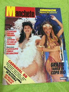 Manchete Carnaval 88 Luma Claudia R Marcella P Miss B Alexan