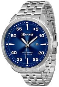 Relógio X Games Mostrador Azul Xmss1033 Lindo + Frete