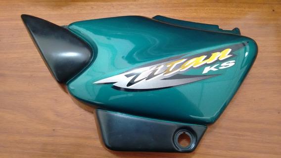 Tampa Lateral Honda Titan 125 2000 Ks Com Adesivo (l.e)